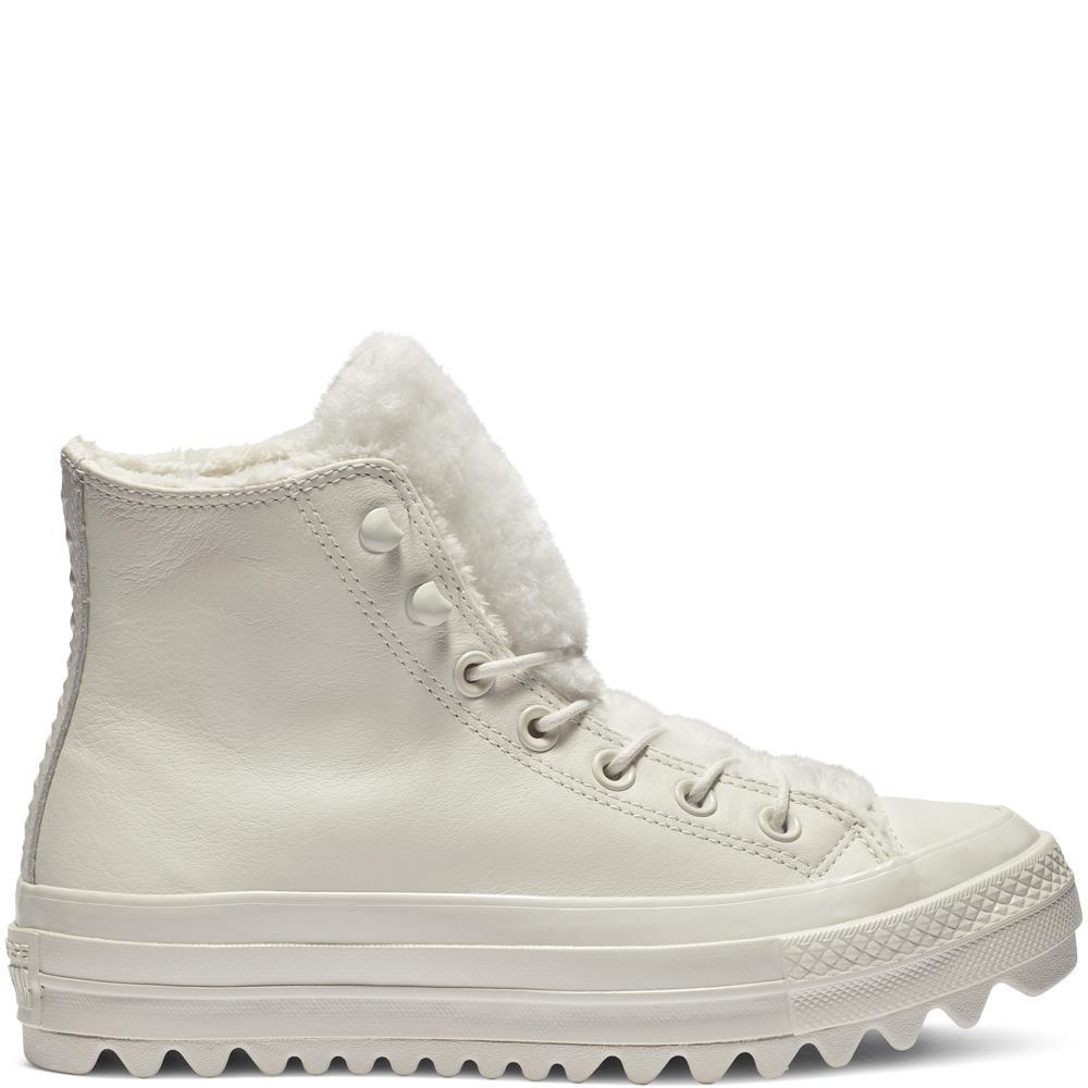 7706daaca48 Converse. Women s White Chuck Taylor All Star Street Warmer Ripple High Top