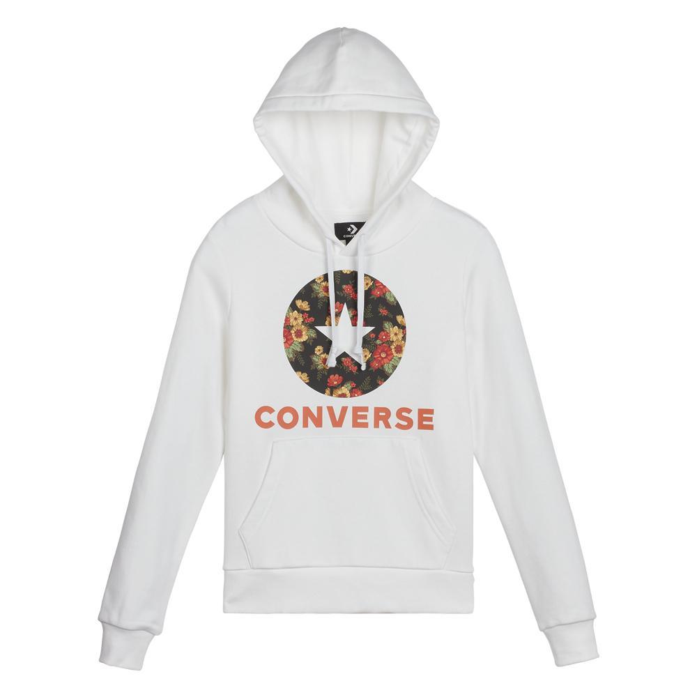 Converse in Bloom Print W Hoodie: Amazon.co.uk: Clothing