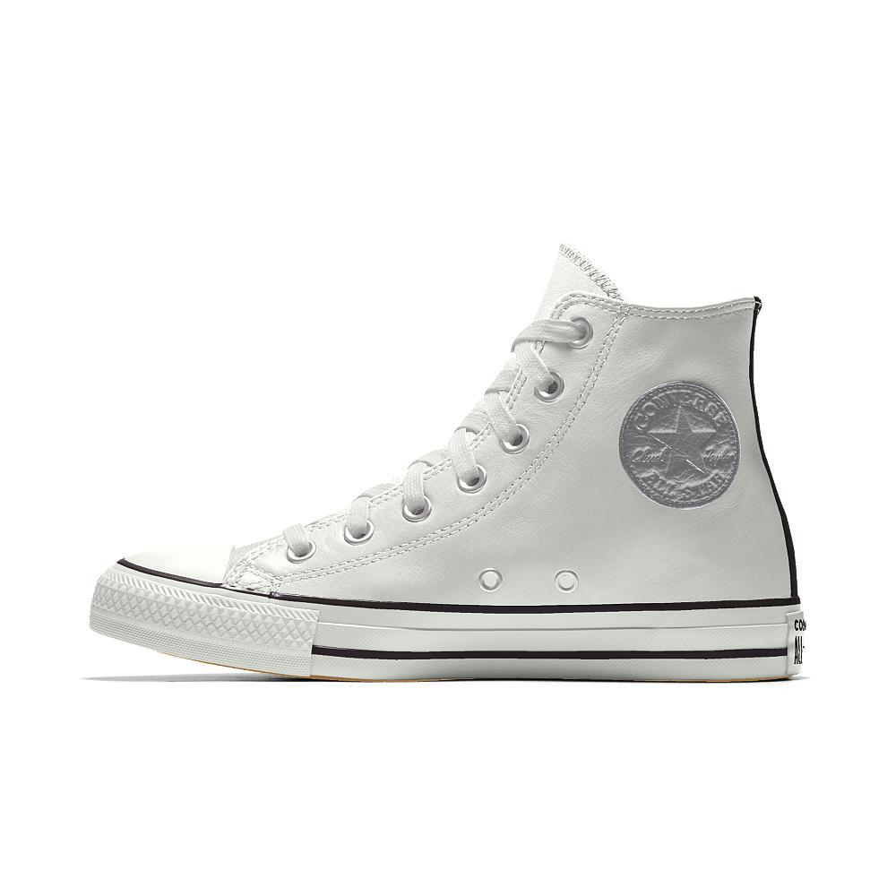 c6f03511deb693 Lyst - Converse Custom Chuck Taylor Premium Leather High Top Shoe in ...