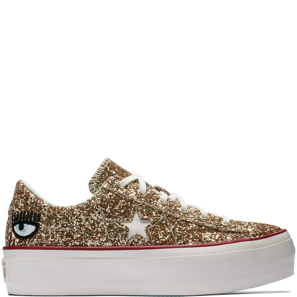 17ec01f75 Converse X Chiara Ferragni One Star Platform Glitter - Lyst