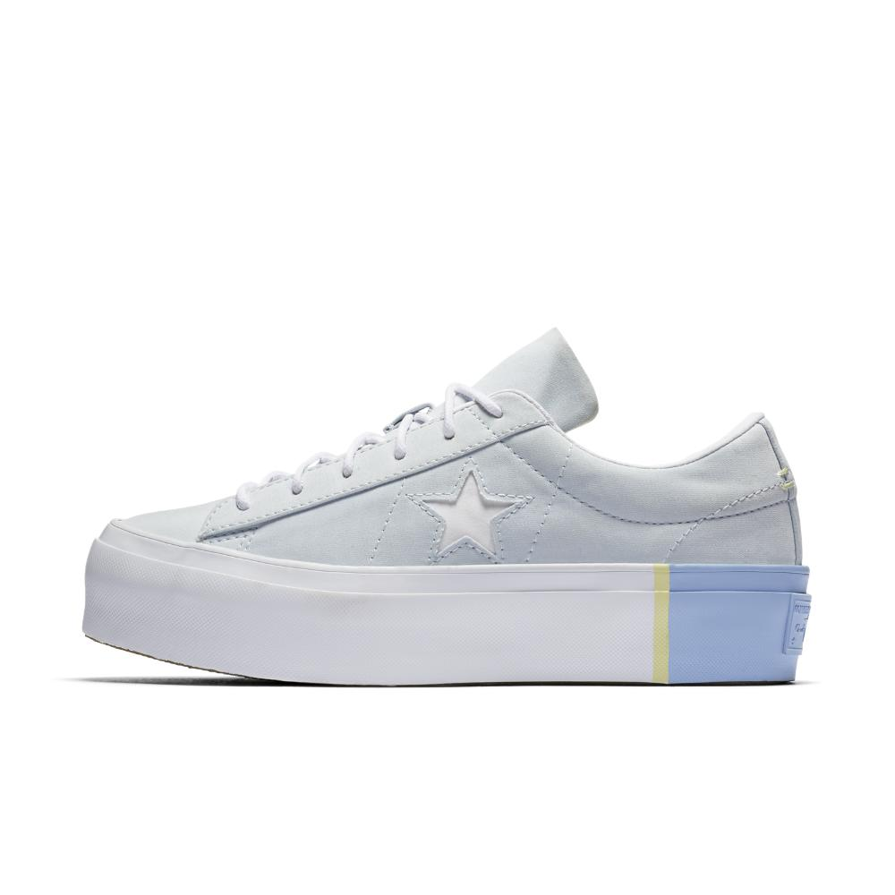 d631d8f0e443 Lyst - Converse One Star Platform Blocked Low Top Women s Shoe in Blue