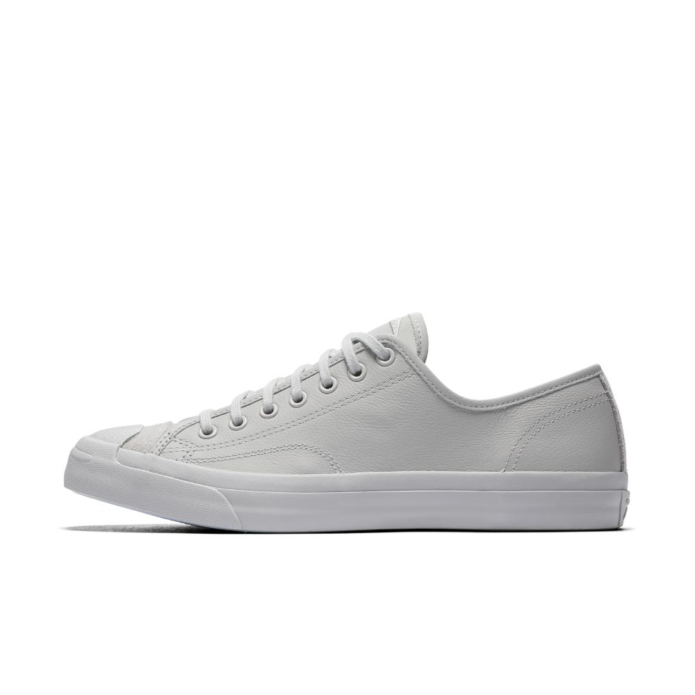 450191abb089e4 Lyst - Converse Jack Purcell Leather Mono Low Top Shoe in Gray for Men