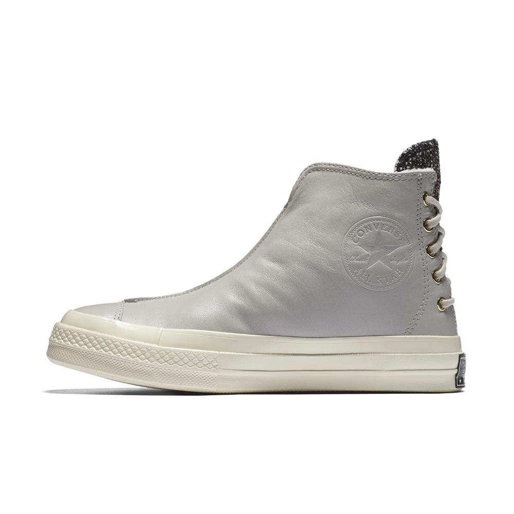 a7464c94775a59 Converse - Gray Chuck 70 Leather And Shimmer Punk High Top Women s Boot -  Lyst
