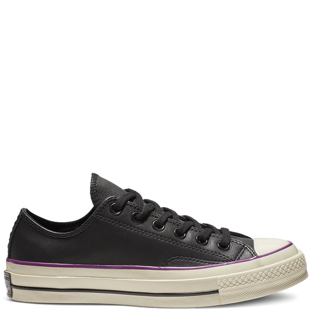 31baa0e55db9c9 Converse Chuck 70 Seasonal Leather Colour Low Top in Black - Lyst