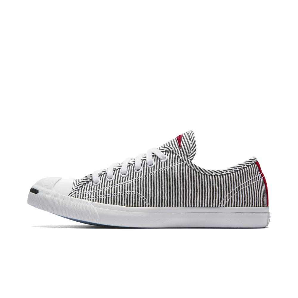 d4d73ebdf371e1 Lyst - Converse Jack Purcell Low Profile Striped Chambray Low Top ...