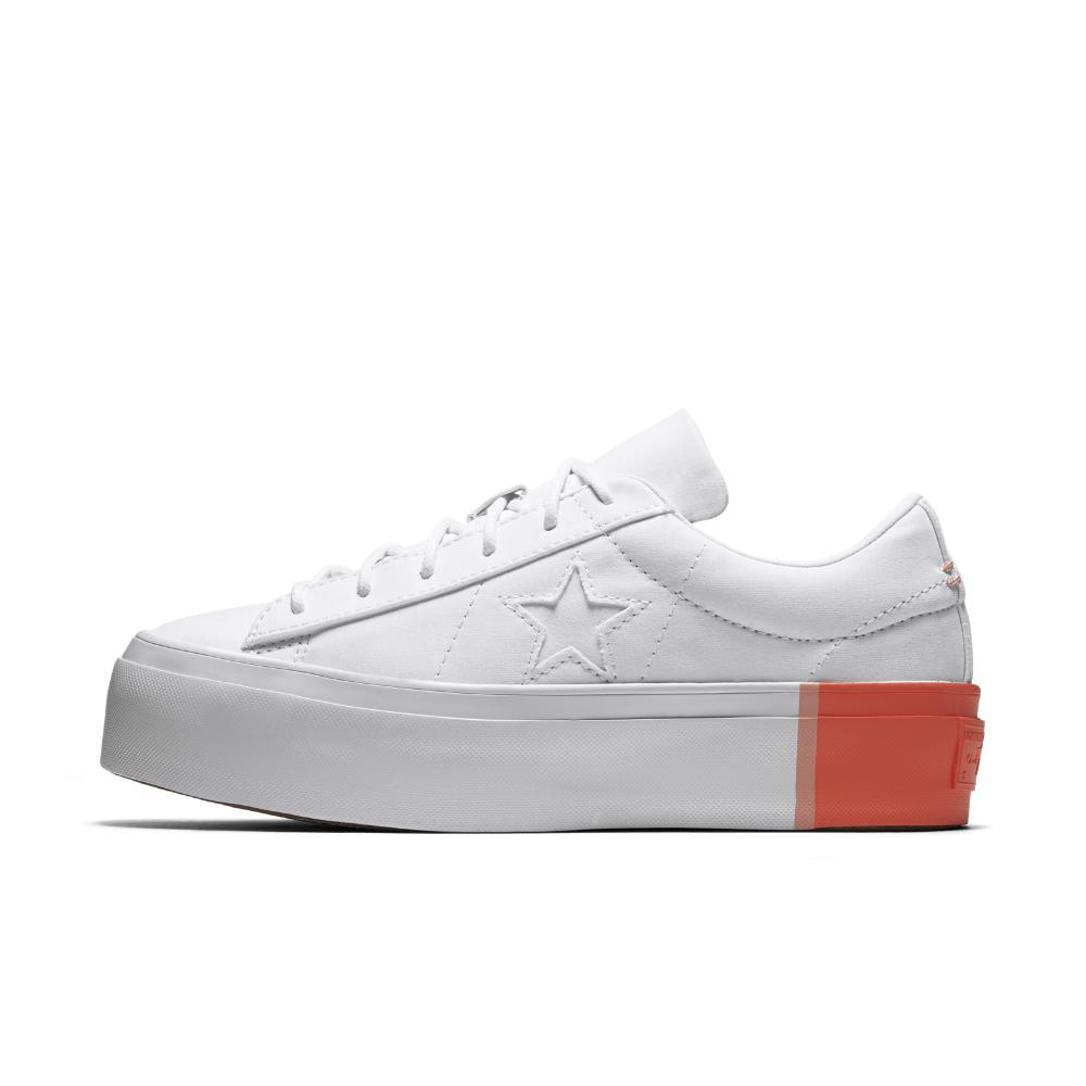 fb7dfc69919 Lyst - Converse One Star Platform Blocked Low Top Women s Shoe in White