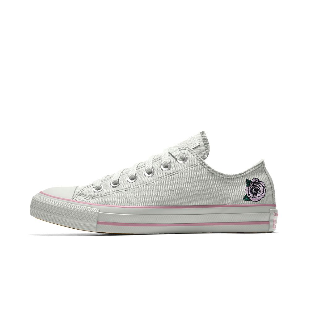 e14a7651a5c4 Lyst - Converse Custom Chuck Taylor All Star Rose Embroidery Low Top ...