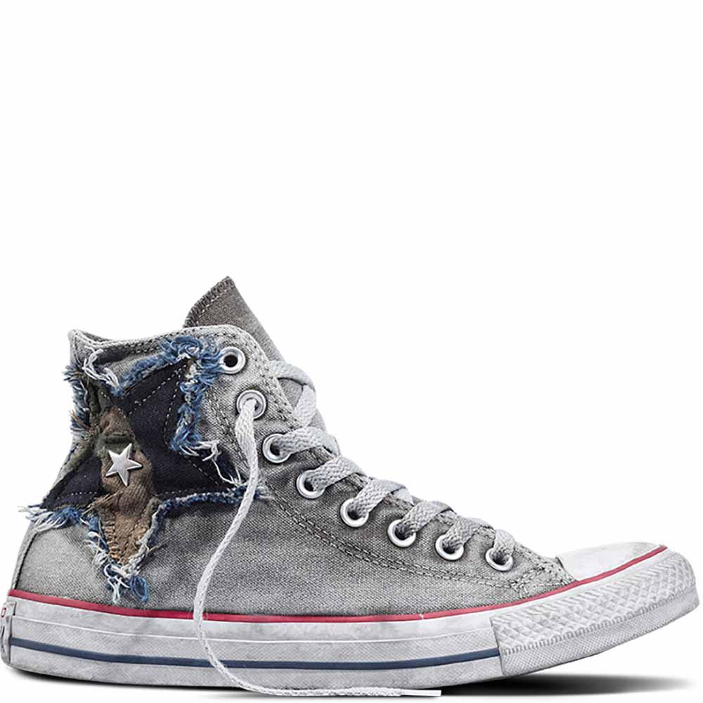 df3783e3cca Converse Chuck Taylor All Star Vintage Camo Star High Top in Gray ...