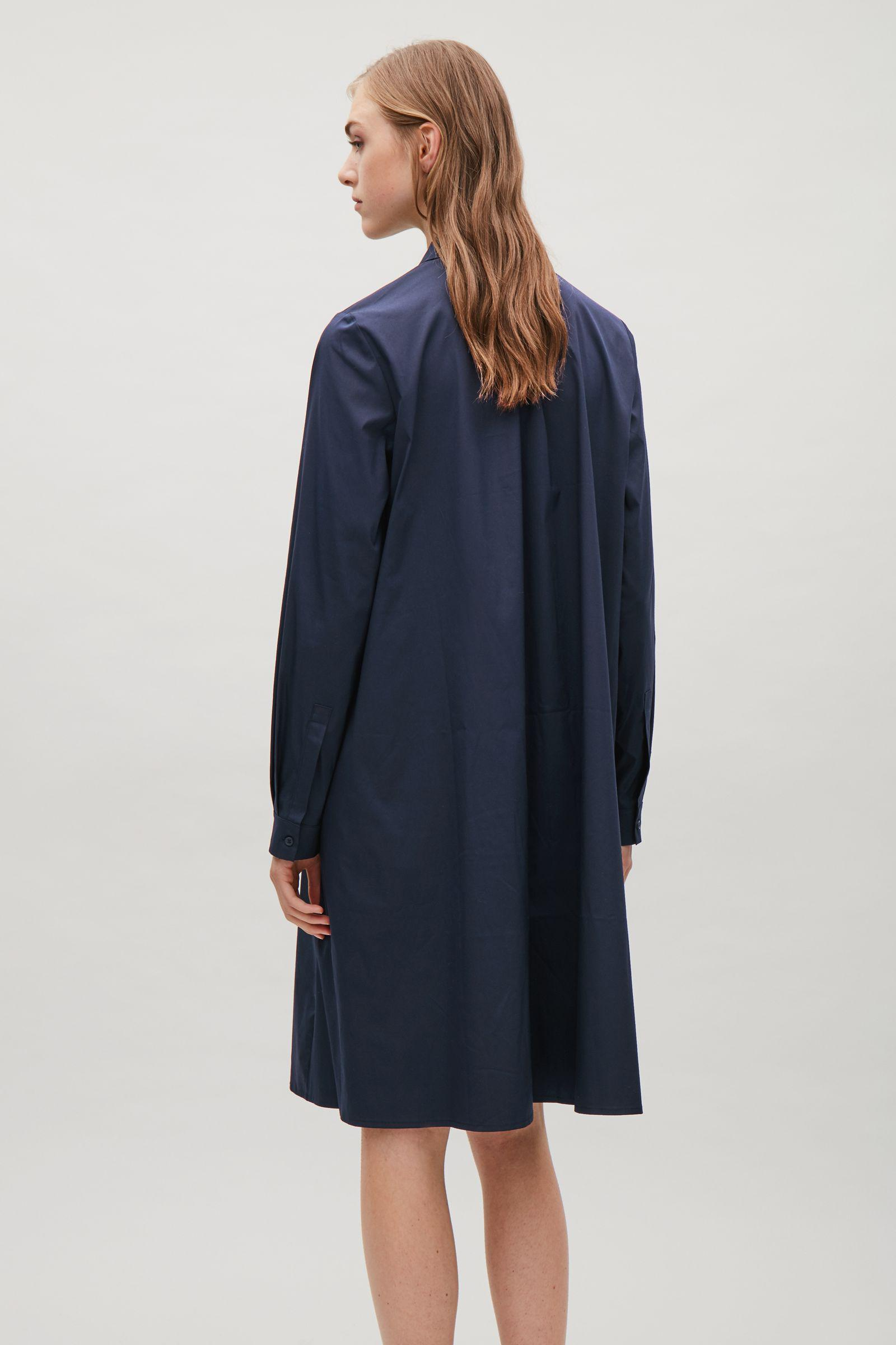 cf26ed6f372a COS Shirt Dress With Gathering Detail in Blue - Lyst