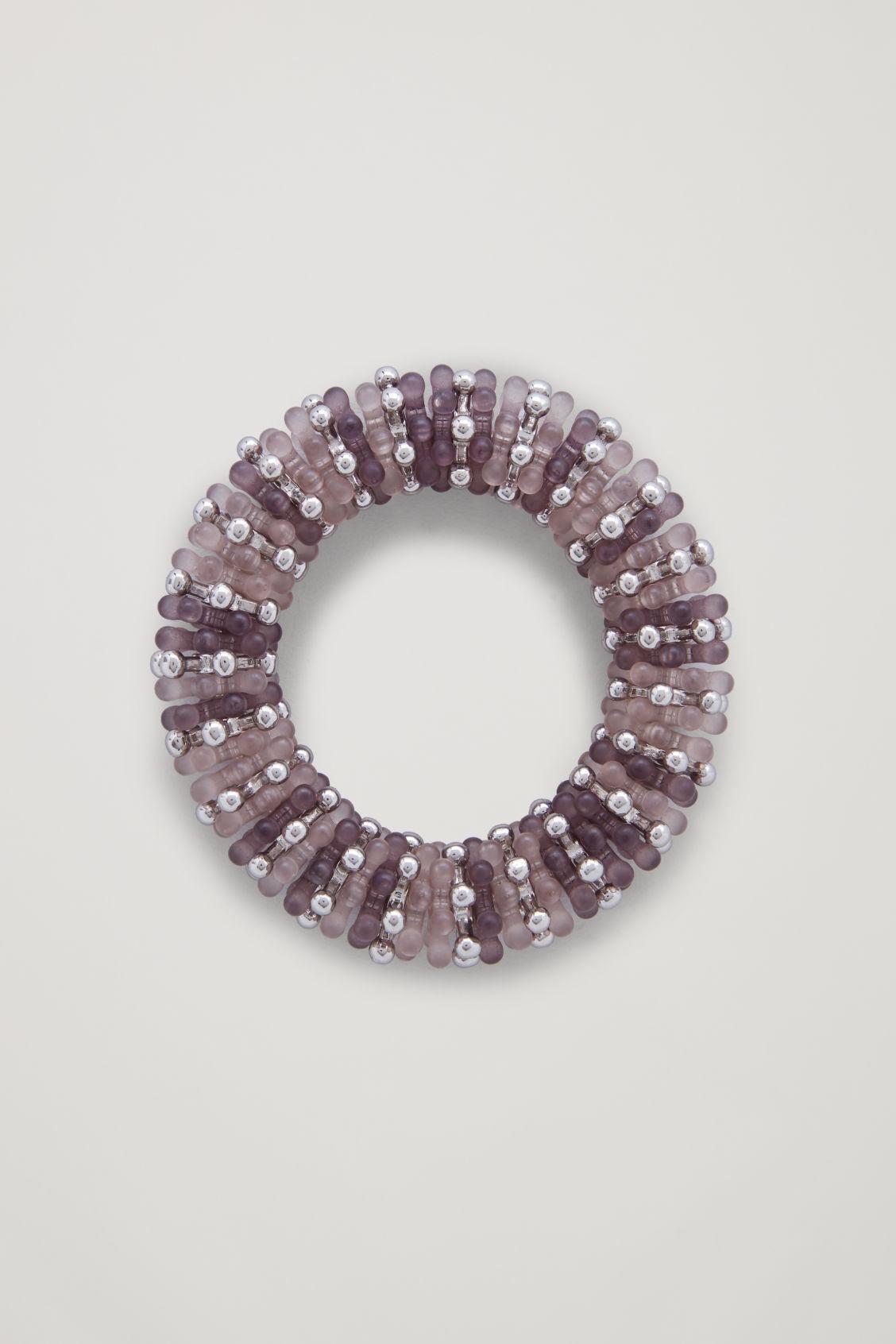 48094a43ceabd5 Lyst - Cos Elastic Beaded Bracelet in Gray