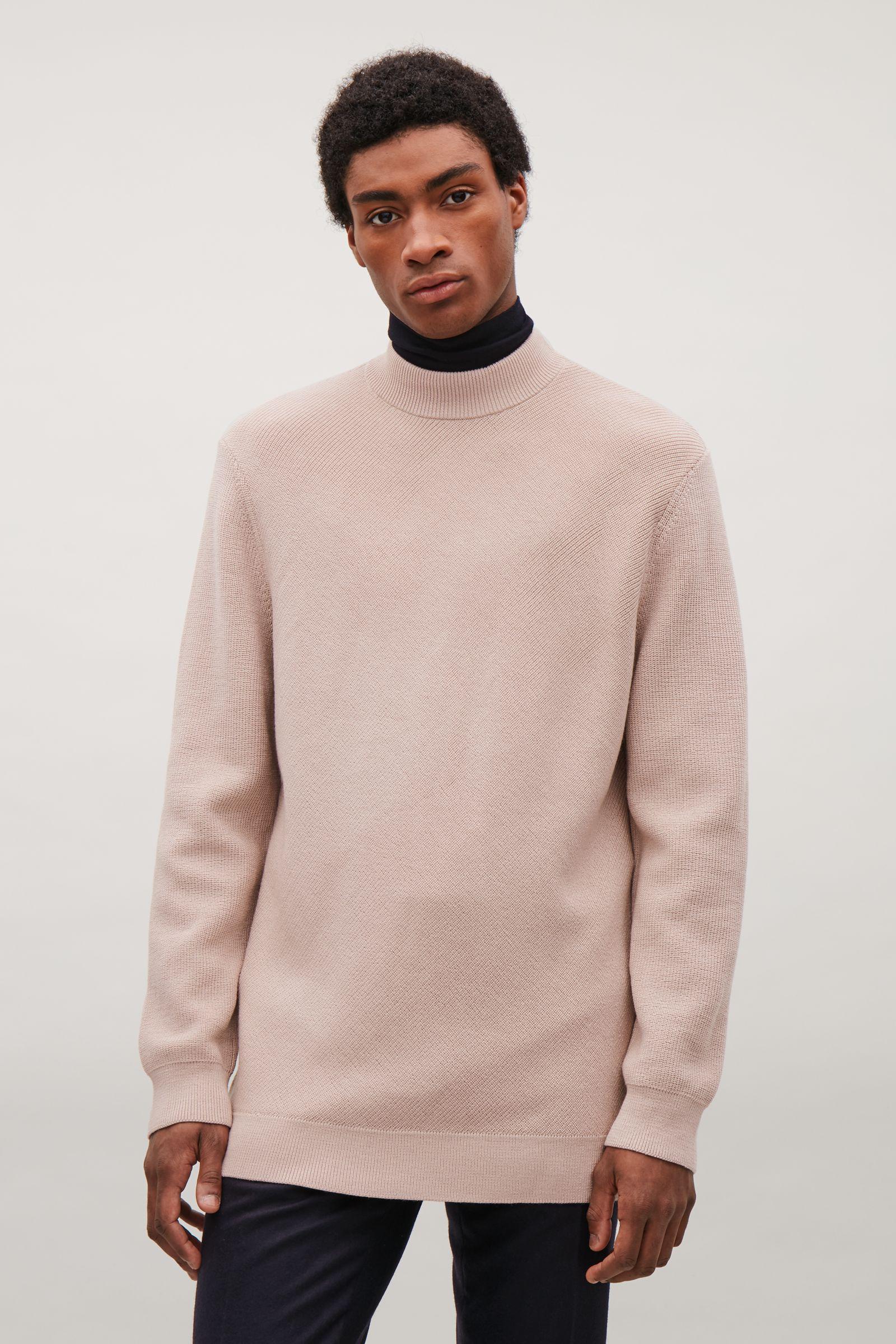 8473d824d3c4 COS Diagonal-stitch Wool Jumper in Pink for Men - Lyst