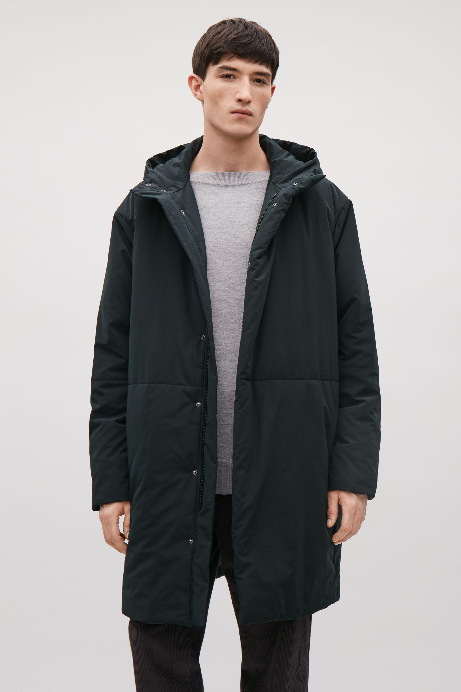 51504bf0208b Lyst - COS Long Padded Coat in Green for Men