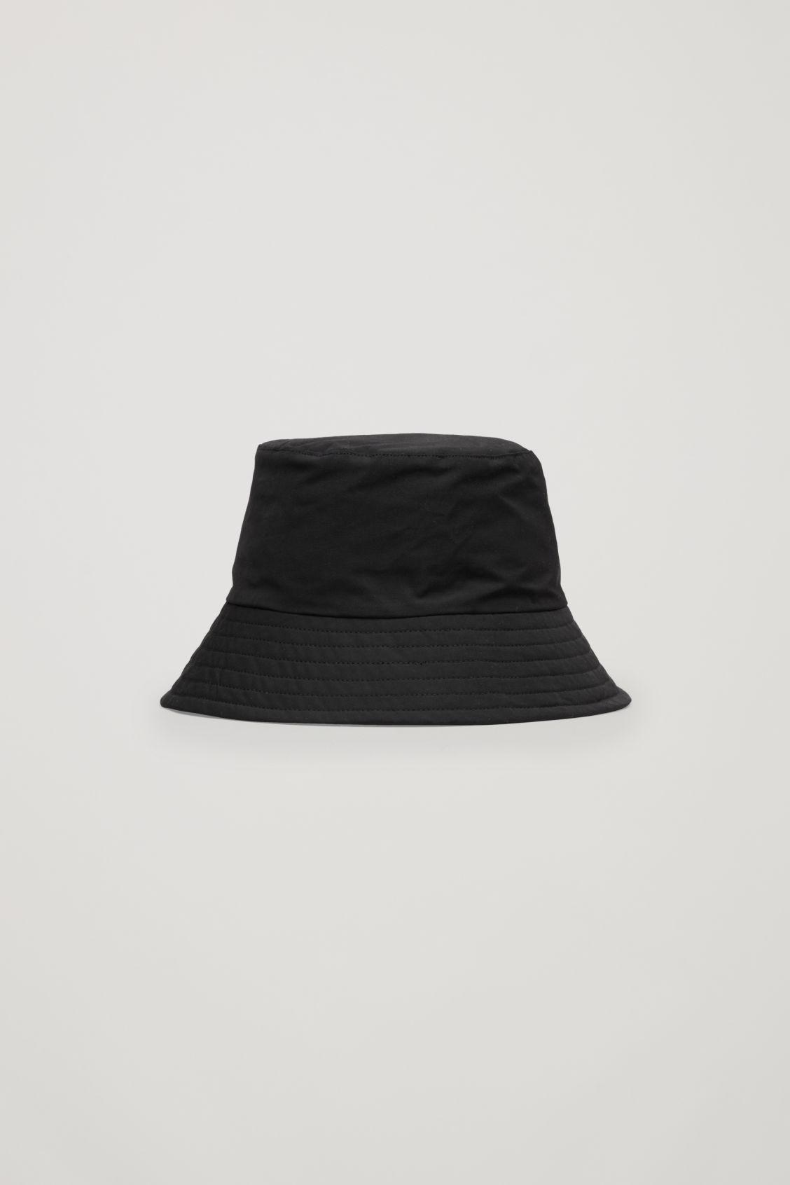 COS Padded Waxed-cotton Bucket Hat in Black - Lyst a5b7f2b92792