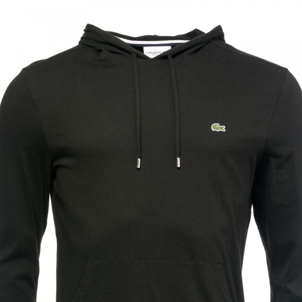 01715692 Lacoste Mens Hooded Logo Top in Black for Men - Lyst