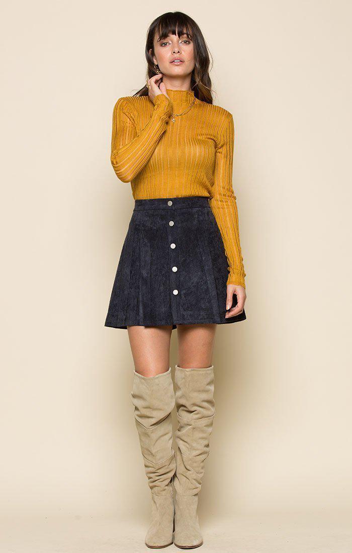 c6587ce19 Raga - Blue Tara Faux Suede Button Up Skirt - Lyst. View fullscreen