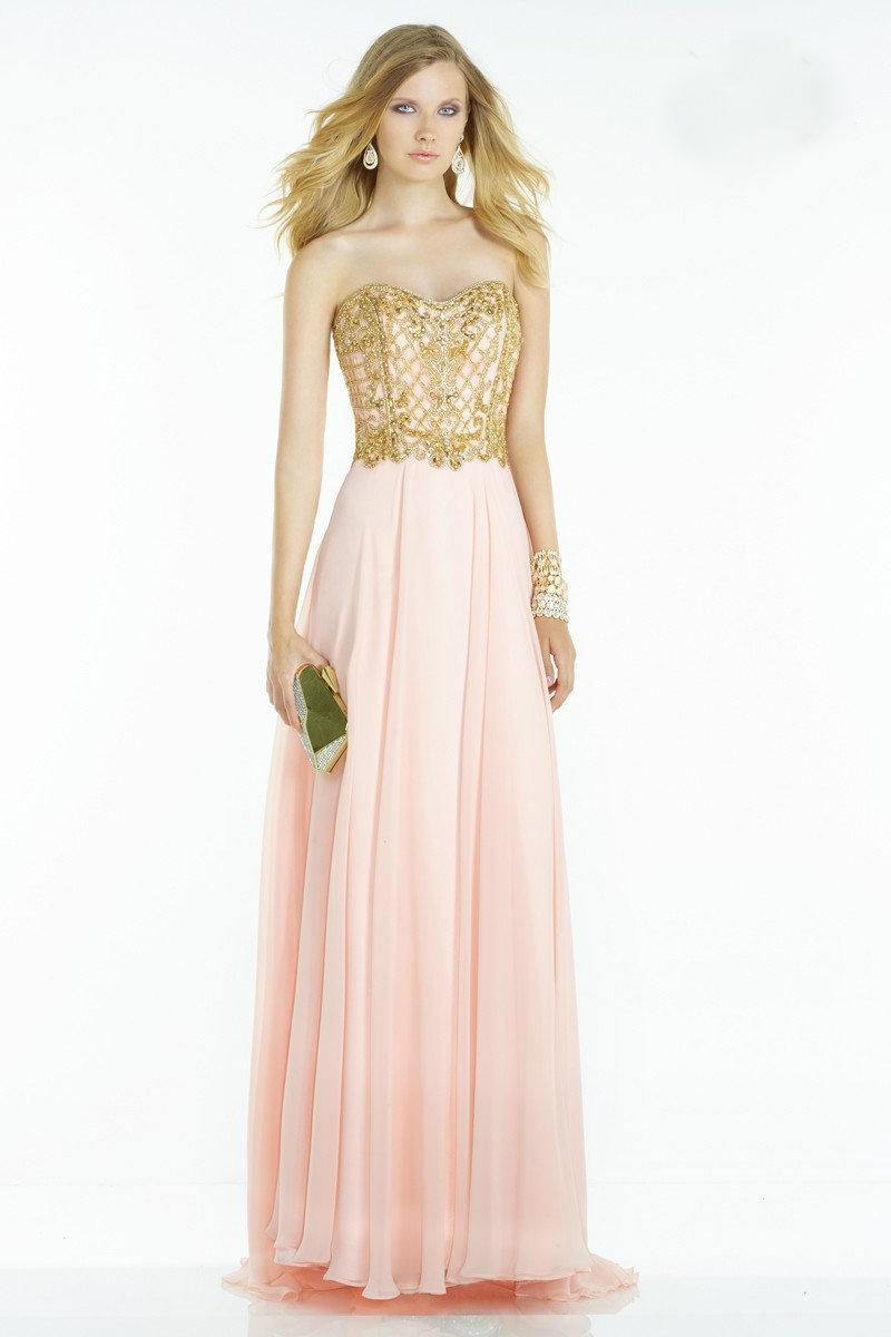 6df07c3805b Lyst - Alyce Paris Prom Dress In Rosewater Gold in Pink