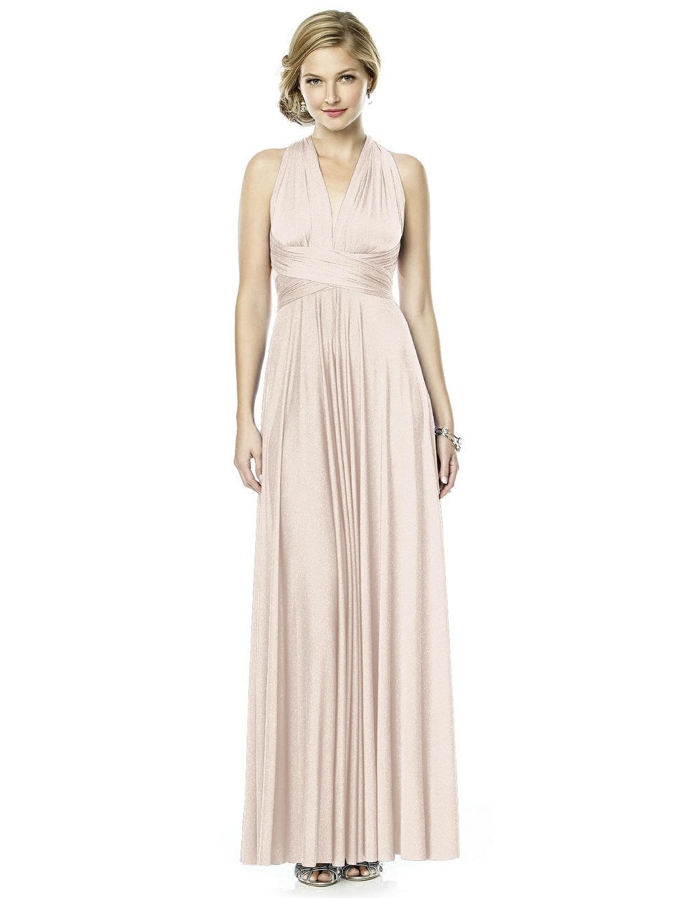 Dessy Collection Shimmertw Dress In Blush Gold In Pink Save 25 Lyst