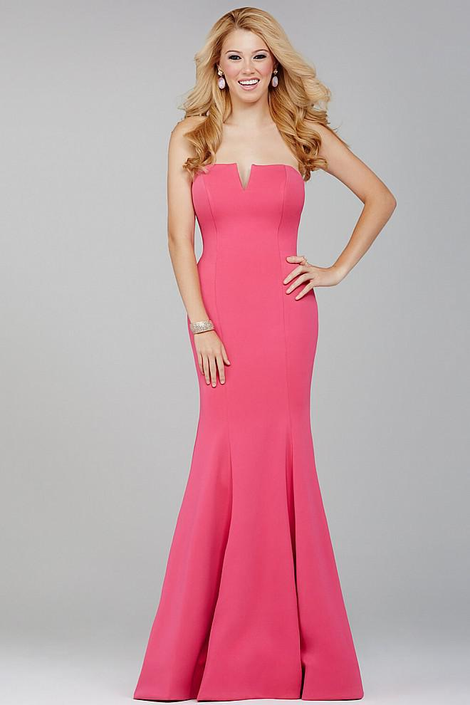 Lyst - Jovani Fitted Strapless Dress Jvn