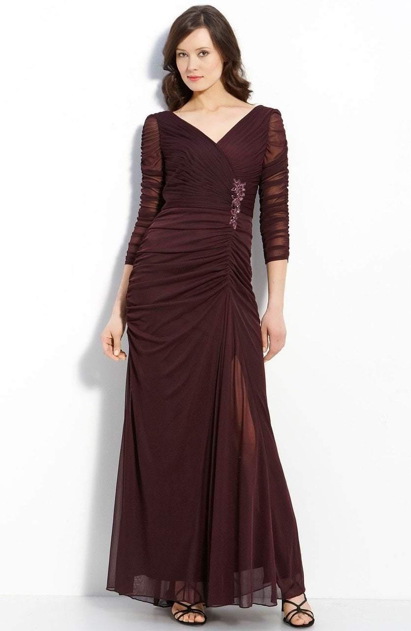 d087cd3a Adrianna Papell. Women's Purple 81859400 Jewel Accented Surplice V-neck  Drape Gown. $366 $183 From Couture Candy
