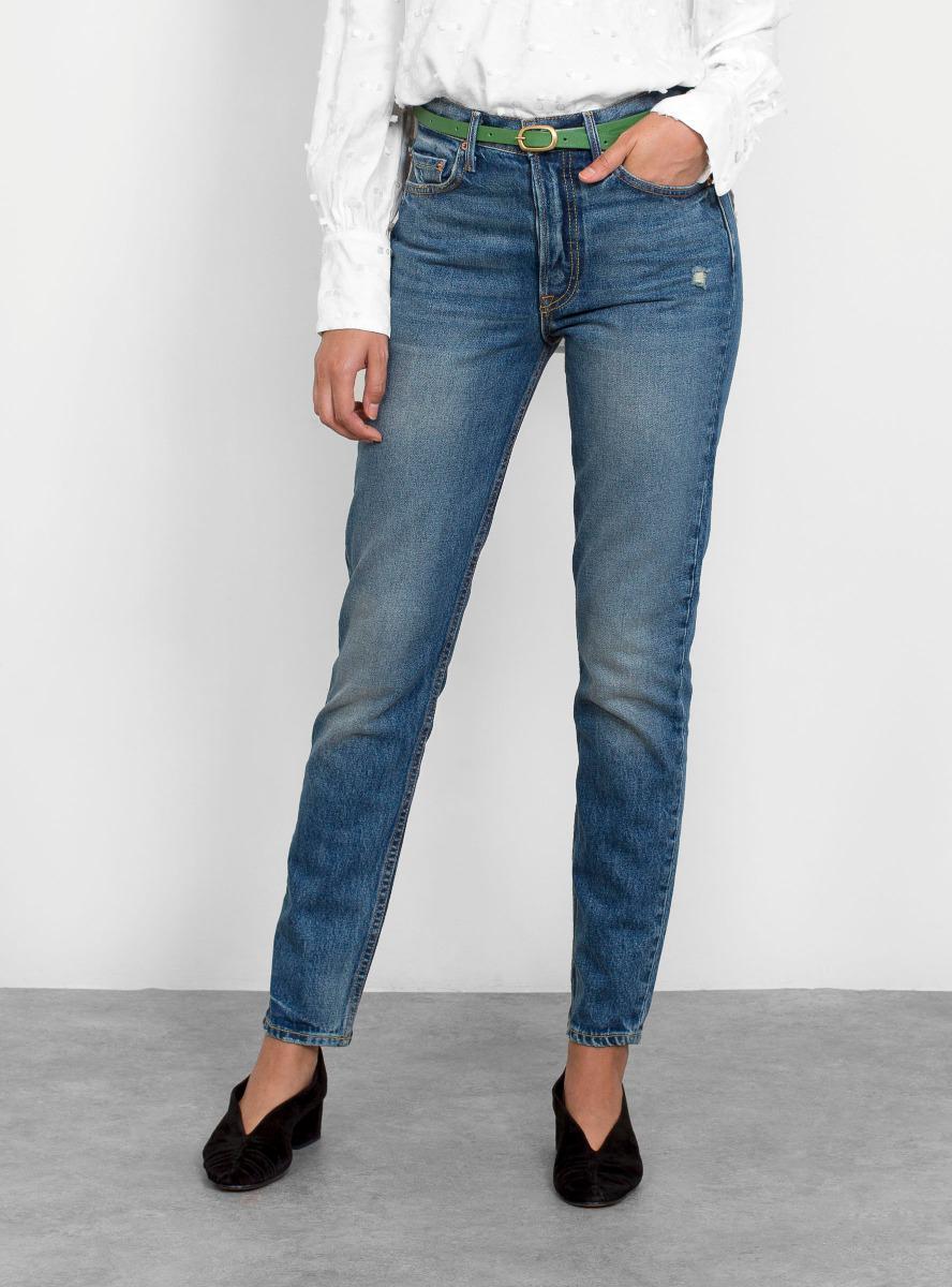 830d20fb5f Lyst - GRLFRND Karolina High-rise Skinny Jeans in Blue