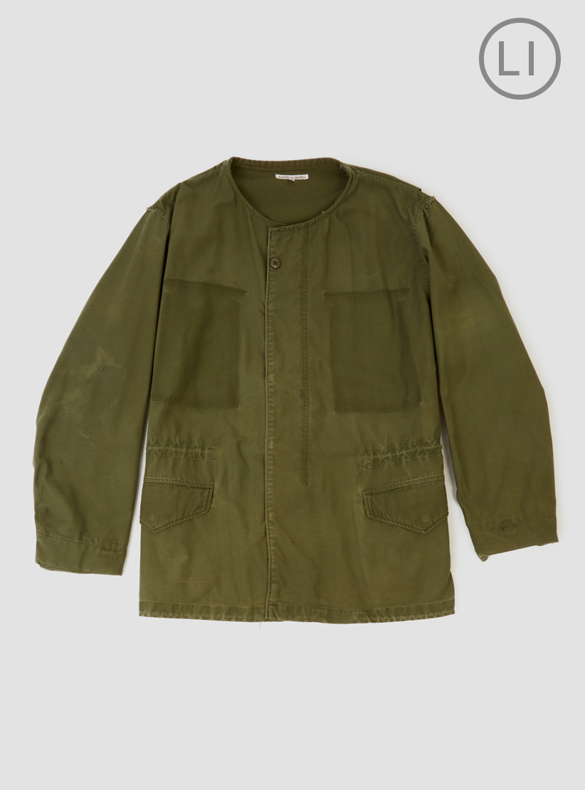 needles crew neck jacket olive in green for men olive lyst. Black Bedroom Furniture Sets. Home Design Ideas