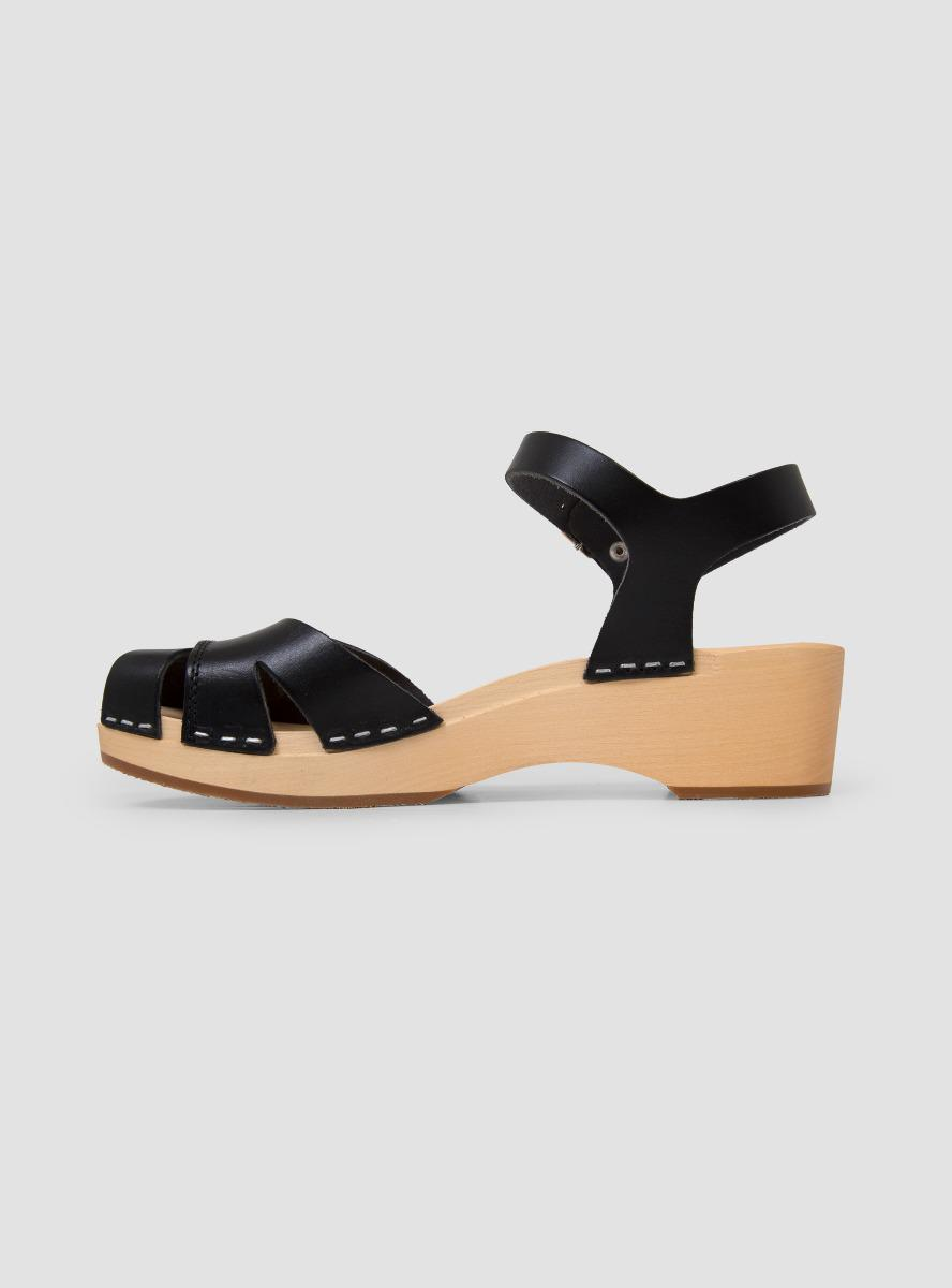47751f11e07f Swedish Hasbeens Suzanne Debutant Sandals in Black - Lyst