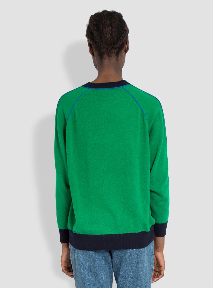 Demylee Kristen Cashmere Sweater Navy & Teal & Green in Blue | Lyst