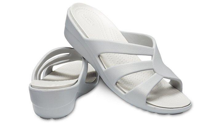 9c28493078d8 Crocs™ - White Sanrah Strappy Wedge - Lyst. View fullscreen