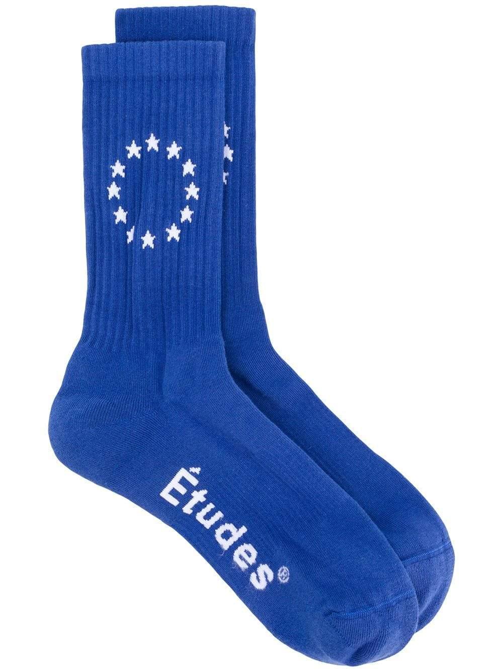 Etudes Studio Logo Embroidered Socks in Blue - Lyst