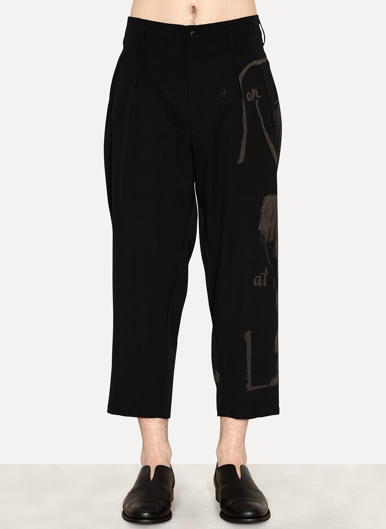 d30513628f2 Lyst - Yohji Yamamoto Wool Gabardine Suspender Pant Print in Black ...