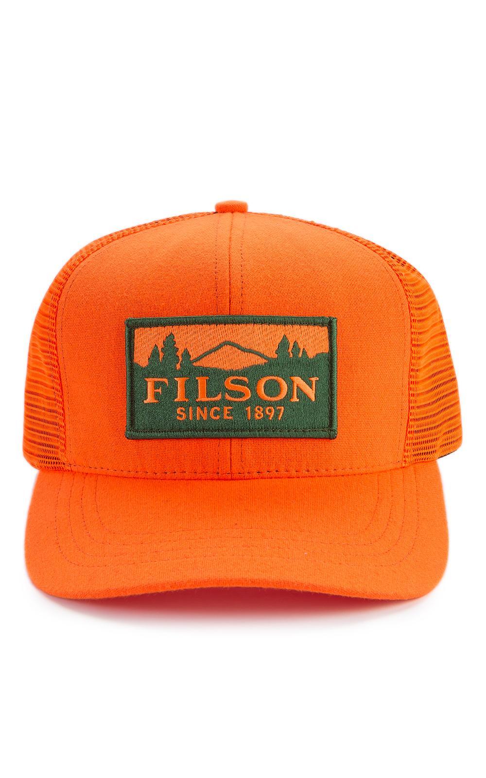 23058ef5898 Filson - Blue Logger Mesh Cap Blaze Orange for Men - Lyst. View fullscreen