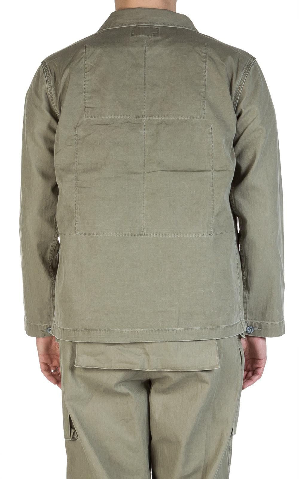 6d51112ae294 Nigel Cabourn Lybro Mixed Field Jacket Nam Green in Green for Men - Lyst