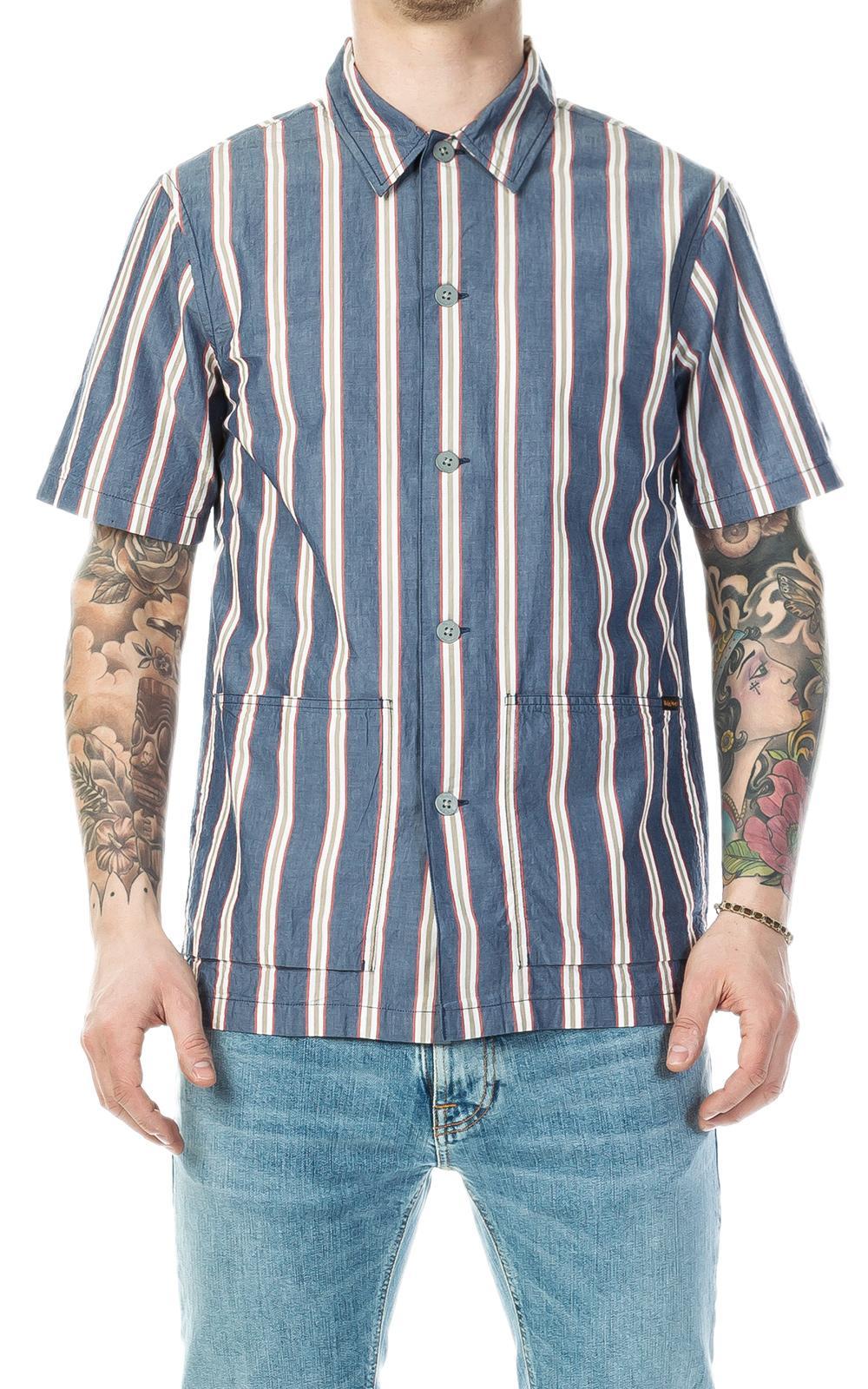 689a27017f Lyst - Nudie Jeans Svante Cuban Stripe Multi in Blue for Men - Save ...