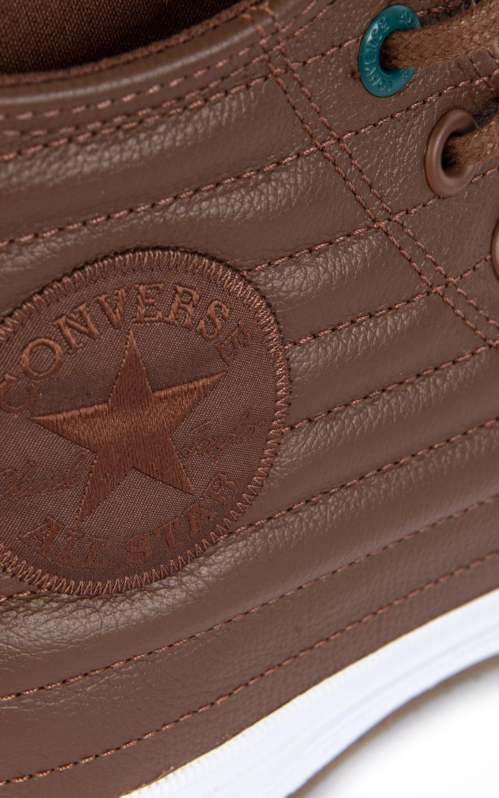 Converse All Star Chuck Waterproof Boot Quilted Leather Dark Cl in ... f43ddc09b