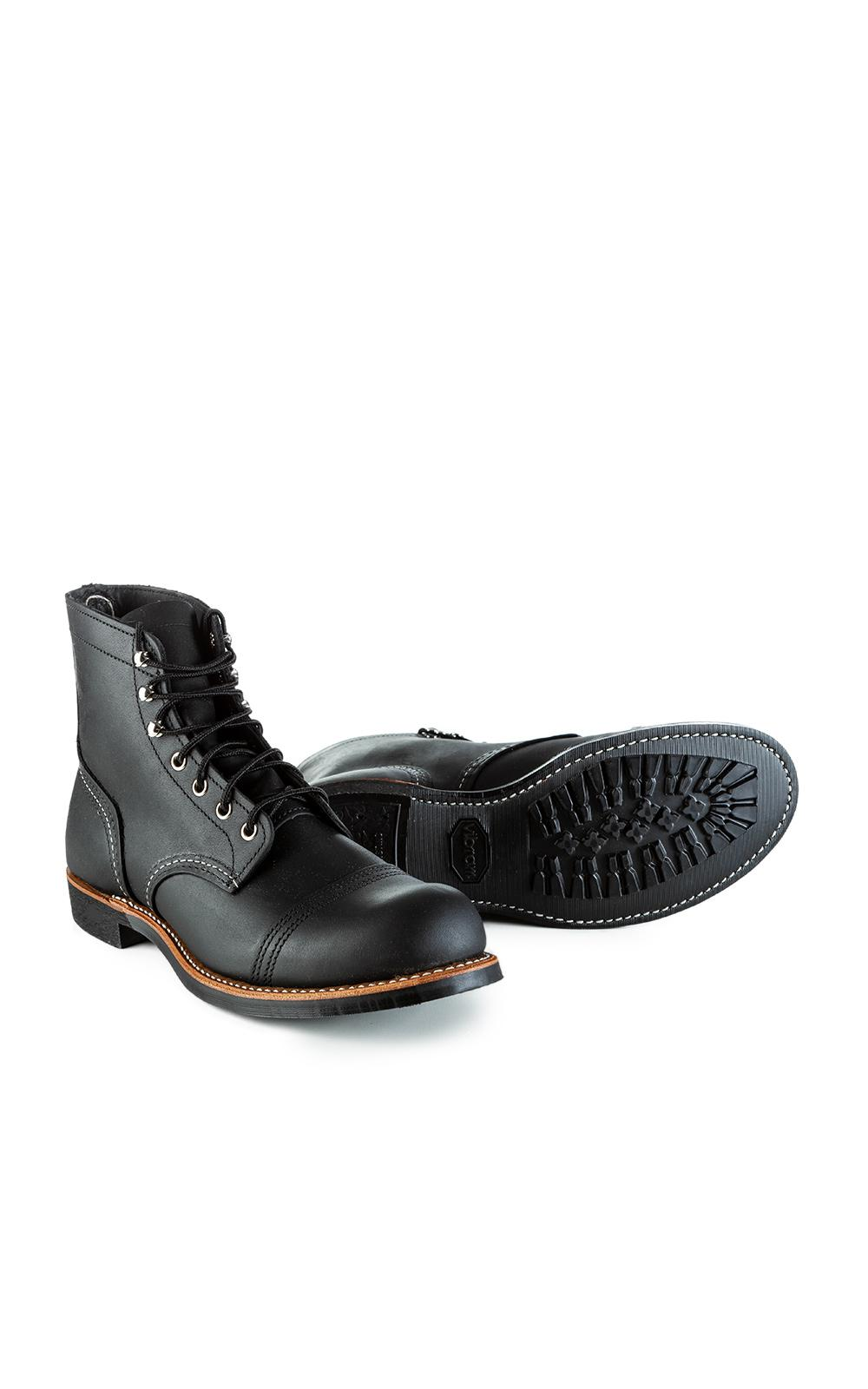 Red Wing 8084d Iron Ranger Black Harness In For Men Save Cut Engineer Shoes Safety Boots Suede Leather View Fullscreen
