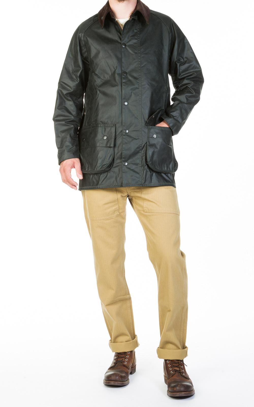 5c8084057455 Barbour Beaufort Wax Jacket Sage in Green for Men - Lyst