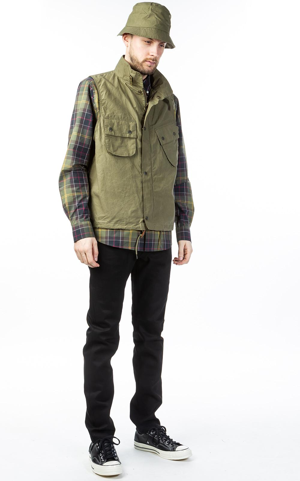 256a06122fecc Barbour X Engineered Garments Arthur Gilet Olive in Green for Men - Lyst