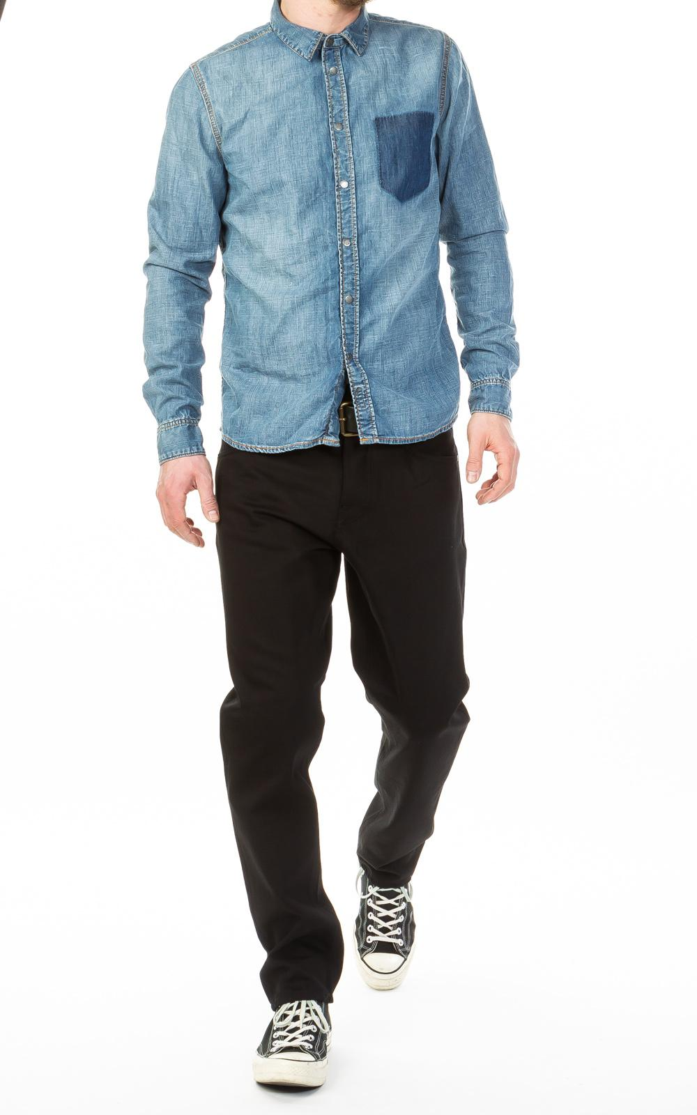 b6d9a0fa81 Nudie Jeans - Blue Henry Ripped Pocket Denim for Men - Lyst. View fullscreen