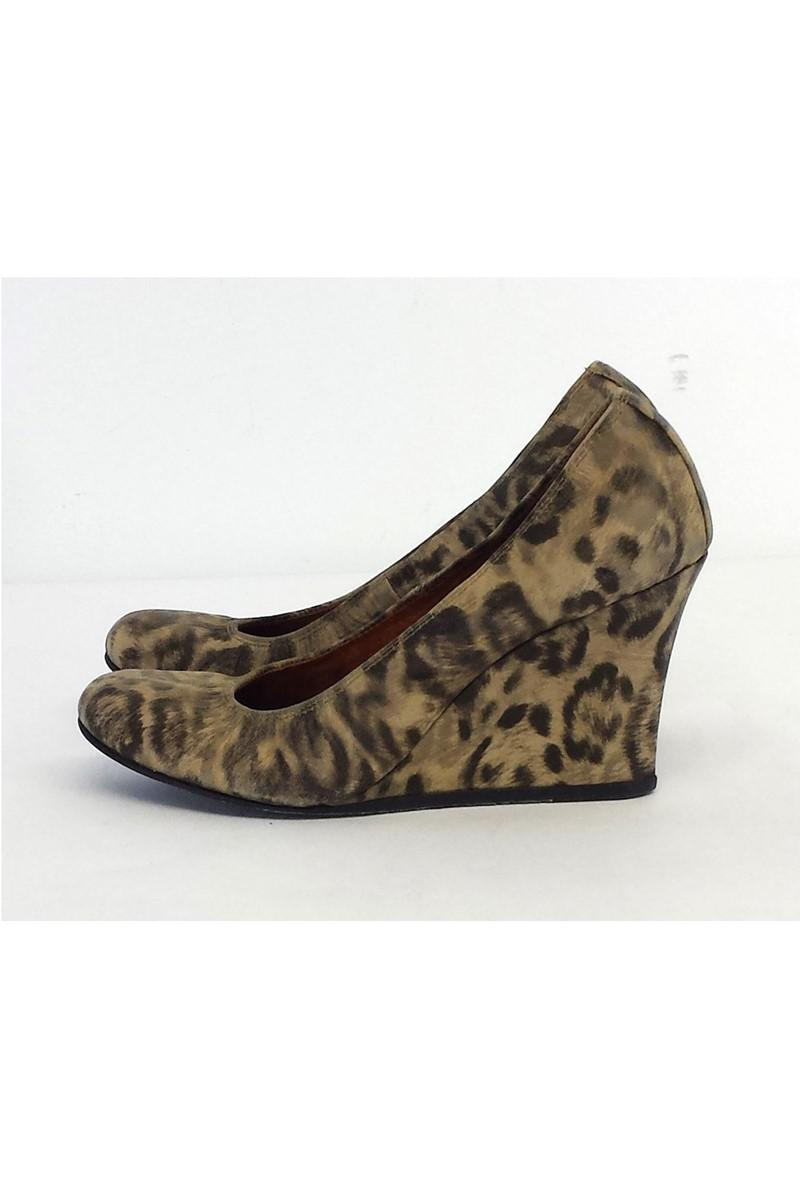Lanvin Leather Leopard Print Wedges amazing price online free shipping official PSIfN2