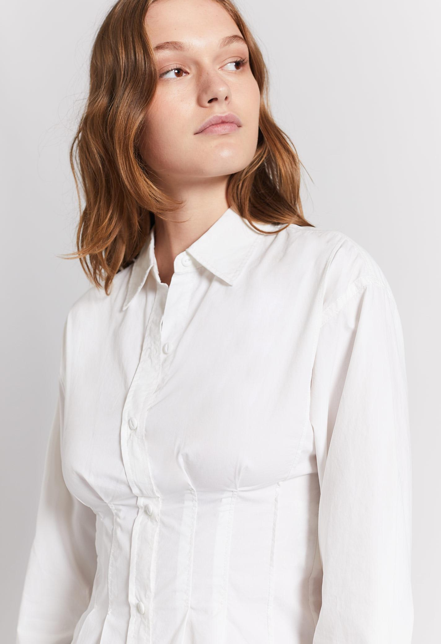 124d9664347f94 Current/Elliott The Tella Shirt in White - Lyst