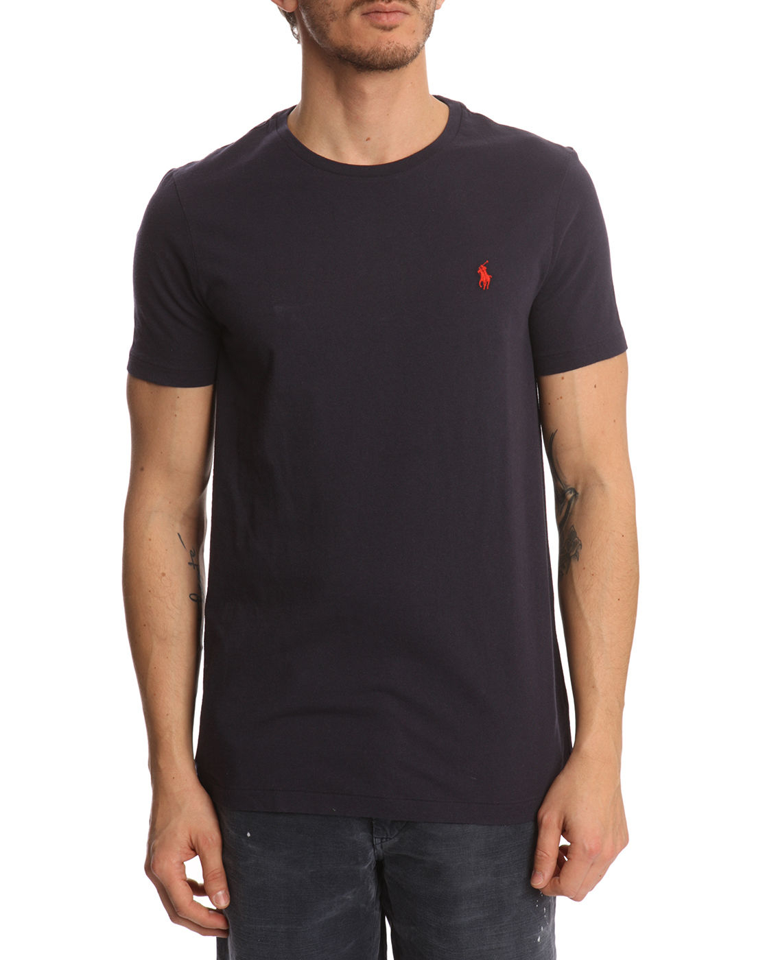 polo ralph lauren navy classic t shirt in blue for men. Black Bedroom Furniture Sets. Home Design Ideas