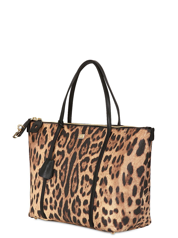 18d102965162 Dolce   Gabbana Miss Escape Leopard Print Tote Bag - Lyst