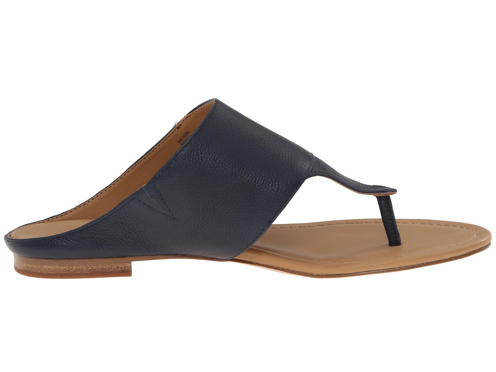 Calvin Klein Womens Briona Black Toscana Leather - Sandals