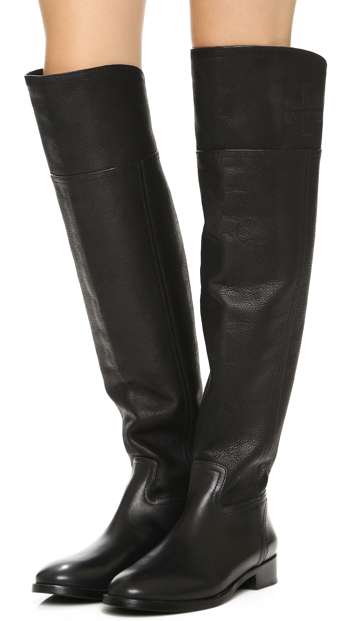 Lyst Tory Burch Simone Over The Knee Boots In Black