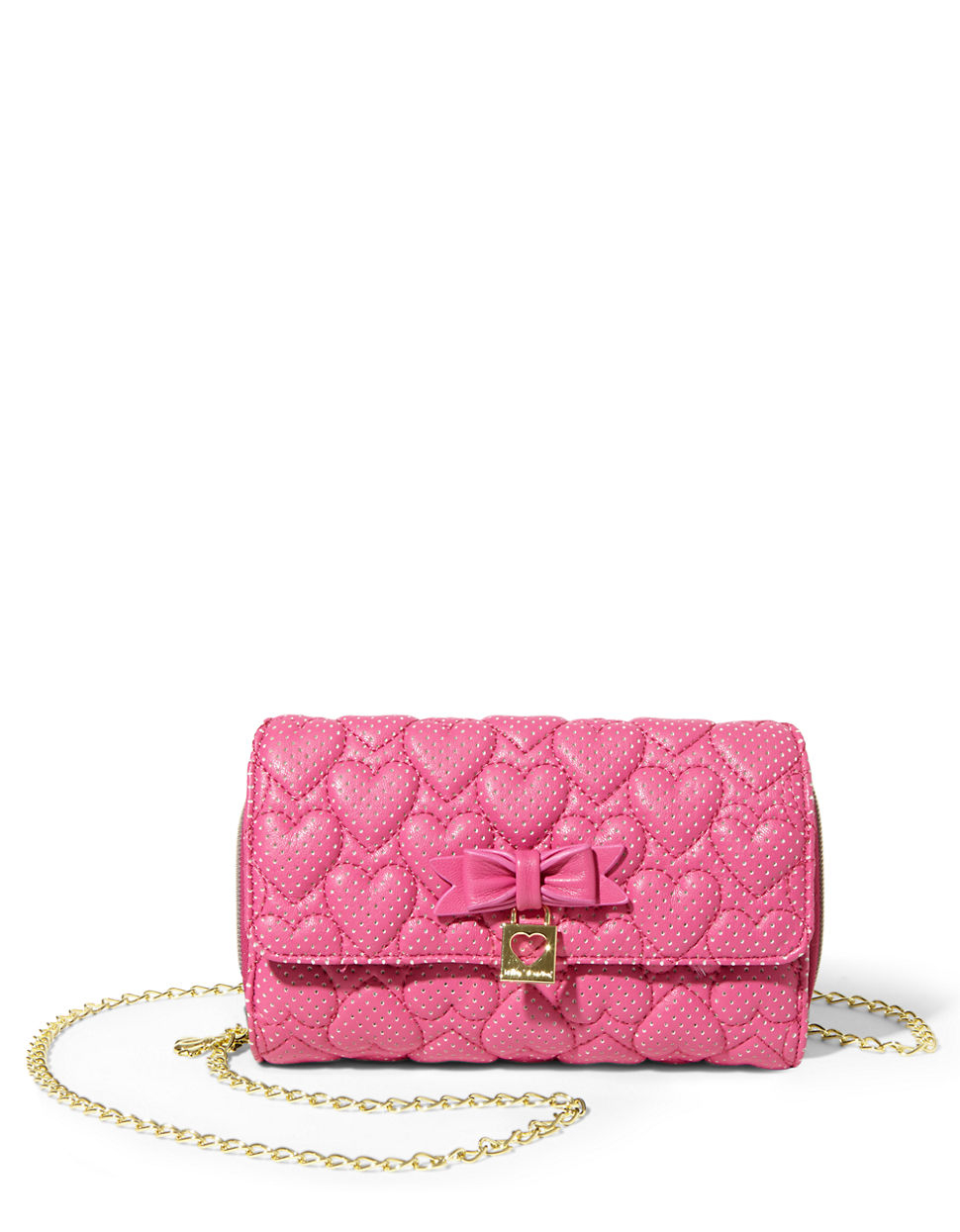 Lyst Betsey Johnson Always Be Mine Heart Quilted