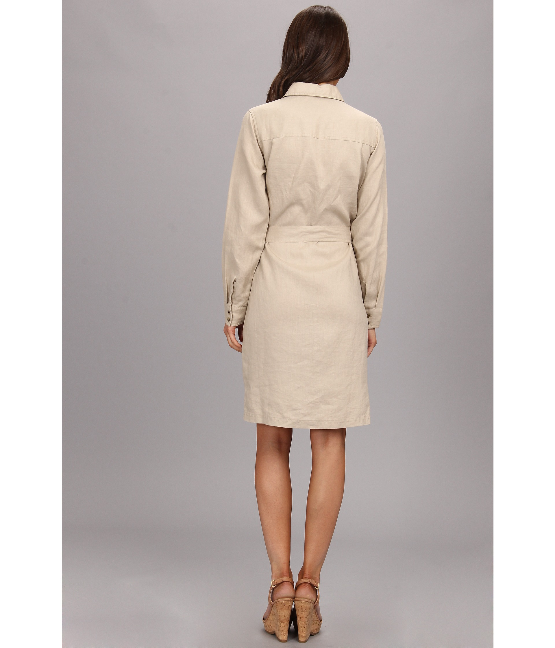 5742a2bcc17 Pendleton Palisades Linen Shirt Dress in Natural - Lyst