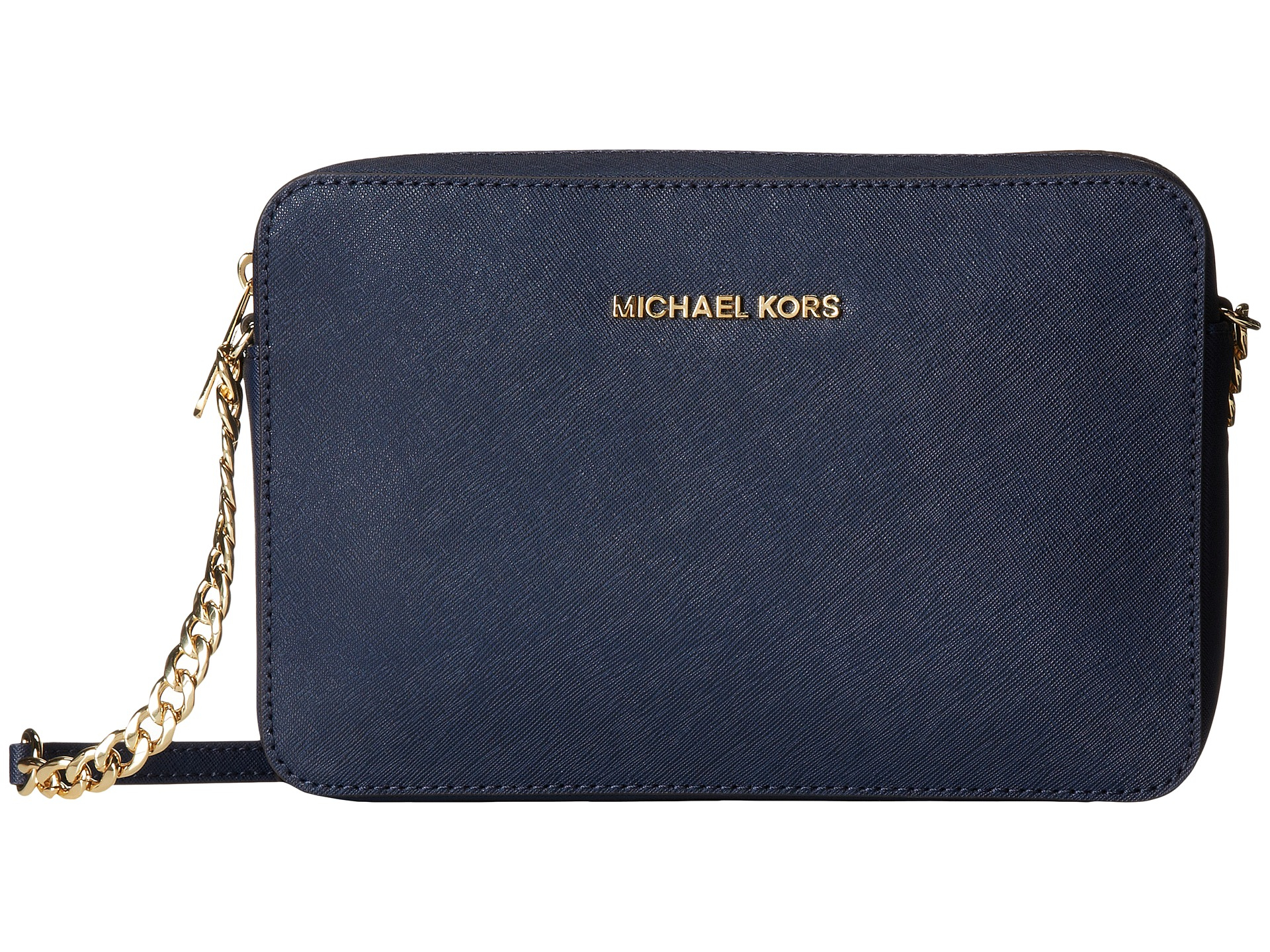 11f79688add8 MICHAEL Michael Kors Jet Set Travel Lg Ew Crossbody in Blue - Lyst
