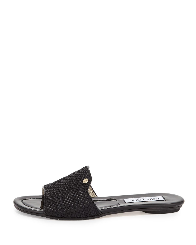 27eee3b1aa7a Lyst - Jimmy Choo Nanda Slide Sandals in Black
