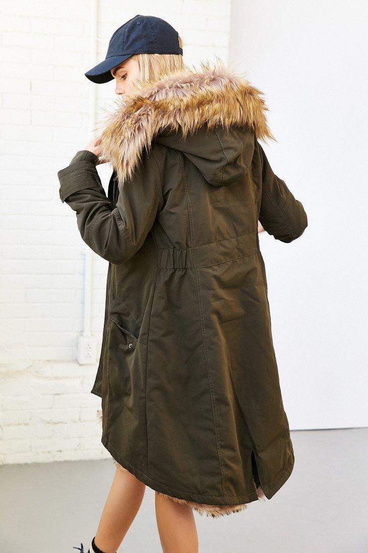 Womens Winter Warm Hooded Parkas Faux Fur Lined Coat Outerwear Jacket, Green S advise