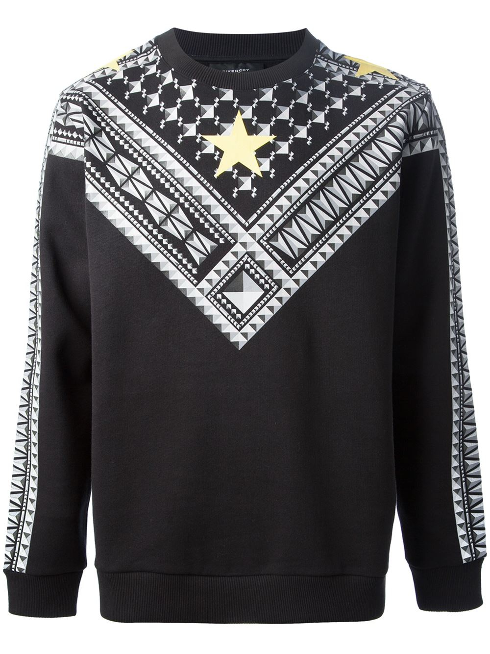 givenchy star checked sweater in black for men lyst. Black Bedroom Furniture Sets. Home Design Ideas